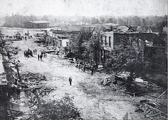 "Albertville, Alabama - Tornado damage from ""The Great Cyclone of 1908,"" Albertville, Alabama."