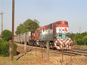 tren de cargas del nuevo central argentino