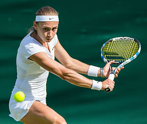 Aleksandra Krunić - Krunić in her first round match at the 2015 Wimbledon Championships