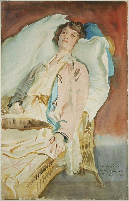 Alice Runnels James (Mrs. William James), John Singer Sargent, 1921