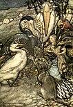 Alice in Wonderland by Arthur Rackham - 03 - But who has won?.jpg