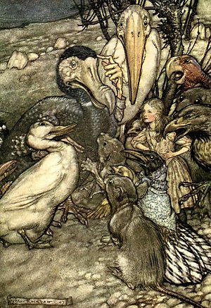 Dodo (Alice's Adventures in Wonderland) - Depiction by Arthur Rackham, 1907
