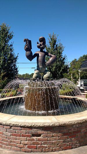 Alma, Arkansas - Popeye statue in downtown Alma