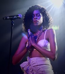 Aluna Francis of AlunaGeorge performing in June 2016 at Scala in London