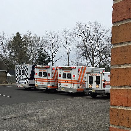 Three ambulances and a specialist response vehicle (right) in New Jersey. Ambulances and a Response Truck.jpg