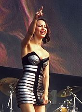 Berrabah performing live in 2011 as part of the Sugababes