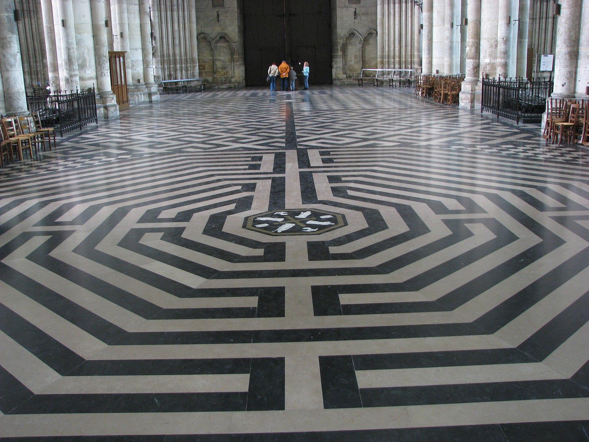 labyrinthe de la cath drale d 39 amiens wikip dia. Black Bedroom Furniture Sets. Home Design Ideas