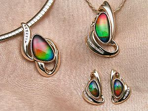 Fine ammolite jewelry by Korite International....
