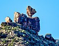 An interesting rock formation in Utah's Desolation Canyon Area.jpg