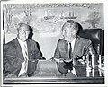 An old friend call on Mayor John F. Collins, John D. Lynch of Chicopee served in the State Legislature with the Mayor (13848361913).jpg