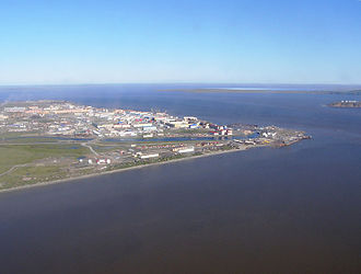 Anadyr (town) - View of Anadyr from helicopter