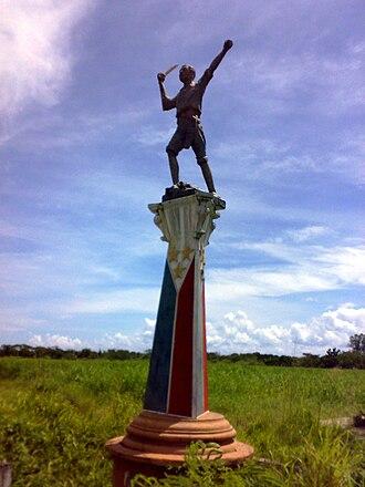 Talisay, Negros Occidental - Image: Andres Bonifacio statue Talisay City Philippines