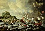 Andries van Eertvelt - A Harbour Scene, possibly Genoa.jpg