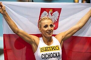 2014 IAAF World Indoor Championships – Women's 800 metres - Angelika Cichocka won the silver medal