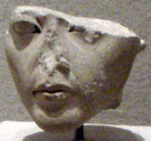 Ankhesenamun - Broken statuette of an 18th dynasty woman believed to be Ankhesenamun. Brooklyn, United States