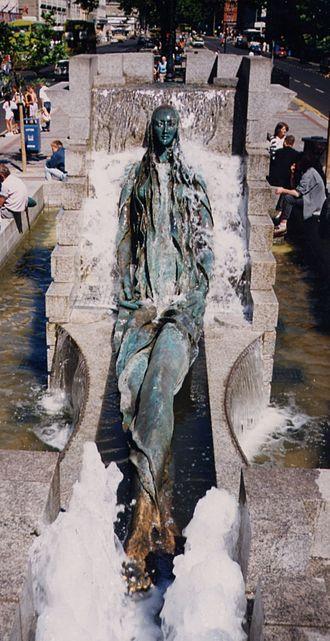 Finnegans Wake - Fountain in Dublin representing Anna Livia Plurabelle, a character in Finnegans Wake