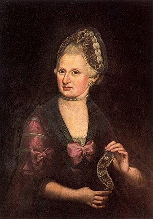 Anna Maria Mozart - Anna Maria Mozart; portrait in oils by Rosa Hagenauer-Barducci from about 1775. The portrait now resides in the Mozart birth home museum in Salzburg.