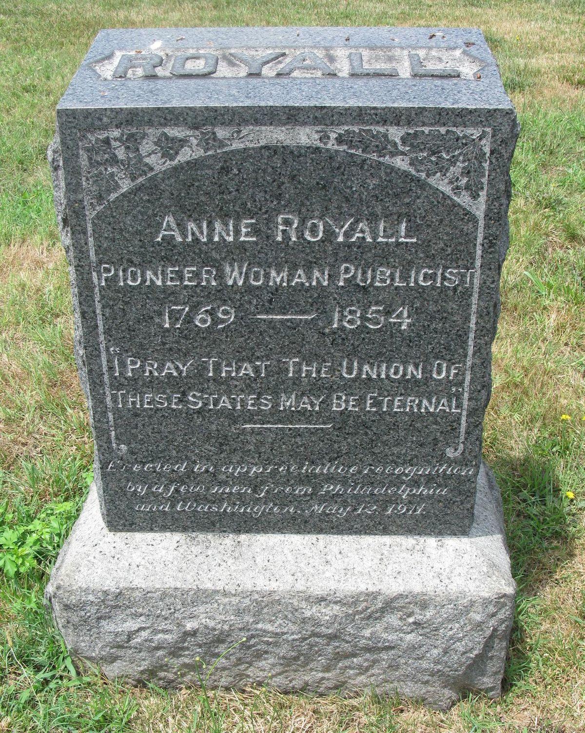 Anne Royall Wikipedia
