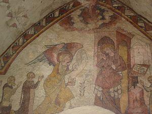 Culture of Jersey - Annunciation in the Fisherman's Chapel (la Chapelle ès Pêcheurs)