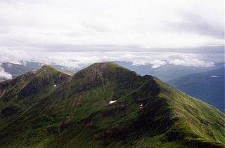 Aonach Meadhoin 1001m high mountain in Scotland