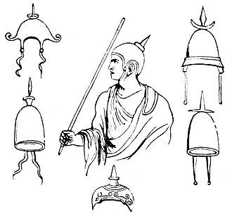 Apex (headdress) - Illustration of an apex