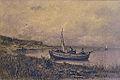 Appian A. - Charcoal - Paysage avec barque et pêcheurs - 50x34cm.jpg