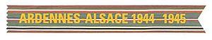 Campaign streamer - Image: Ardennes Alsace Campaign Streamer