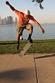 Arlo does an ollie near the Shedd Aquarium, October 2011.jpg