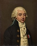 Painting of a bewigged man in late 18th century dress