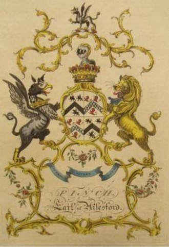 Heneage Finch, 3rd Earl of Aylesford - Image: Arms Of 3rd Earl Of Aylesford