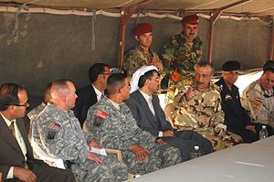 16th Sustainment Brigade - Brigade leaders meet with Iraqi officials at COB Q-West.