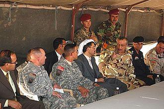 16th Sustainment Brigade - Brigade leaders meet with Iraqi officials at COB Q-West.