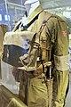 Army uniforms of Norway. Field uniform (feltuniform) M1951 Jacket Webbing Ammunition belt Straps Bag Rank insignia armlet Knife etc. Armed Forces Museum (Forsvarsmuseet) Oslo 2020-02-3079.jpg