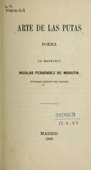 Nicolás Fernández de Moratín: Español: Arte de las putas, poema