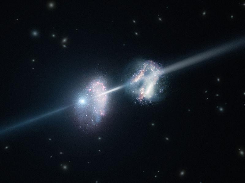 Gamma Ray Burst, Credit: ESO/L. Calçada