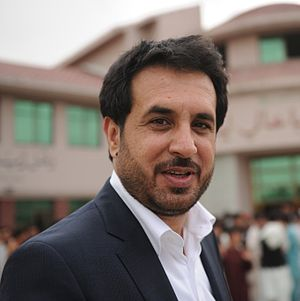 Asadullah Khalid - Asadullah Khalid in front of the Rahman Baba High School in Kabul