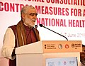 Ashwini Kumar Choubey addressing at the inauguration of the National Consultation for accelerating tobacco control measures for achievement of the goals under National Health Policy, 2017, in New Delhi.JPG