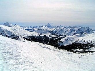 Banff Sunshine - Mount Assiniboine seen from Banff Sunshine