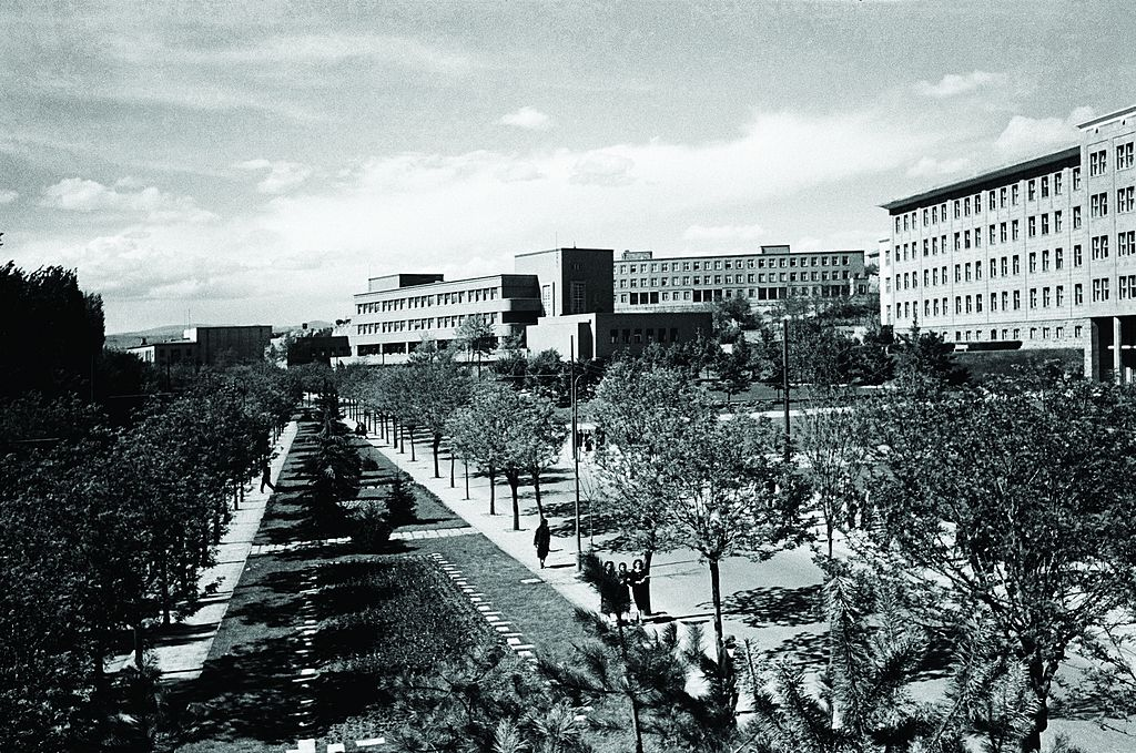 Atatürk Boulevard, Faculty of Language, History and Geography, İsmet Pasha Girls' Institute, 1940s (16852461225)