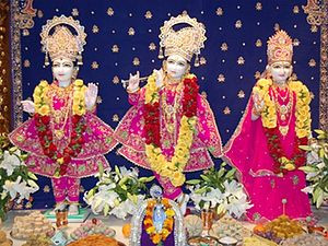 Shri Swaminarayan Mandir, Auckland - RadhaKrishna Dev murtis at this Temple