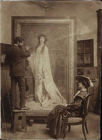 Auguste Leroux - Auguste Leroux in his studio (1903)