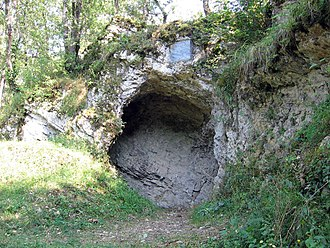 Cave of Aurignac - entrance porch of the Aurignac shelter