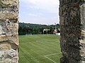 Ausblick auf Fußballplatz von der Stadtmauer, Piran, Slowenien - panoramio.jpg