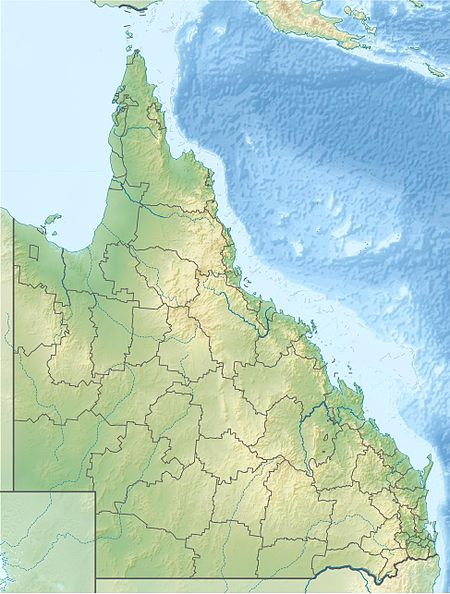 Mapa konturowa Queensland
