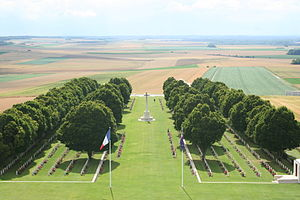 Harold Corbett - View from the top of the Australian National Memorial at Villers-Bretonneux cemetery where Corbett and 770 other Australian fallen are honoured