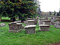 Autumn in the graveyard at Abbey Dore - geograph.org.uk - 1618335.jpg
