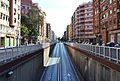 Avinguda de Pérez Galdós de València, accés al túnel.JPG