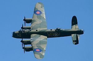 Royal Air Force - The Avro Lancaster heavy bomber was extensively used during the strategic bombing of Germany.