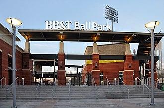 BB&T Ballpark (Charlotte) - Image: BB&T Ballpark 2