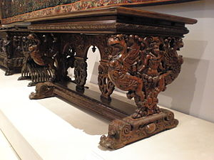 Northern Mannerism - Walnut French or Burgundian table, 2nd half of the 16th century